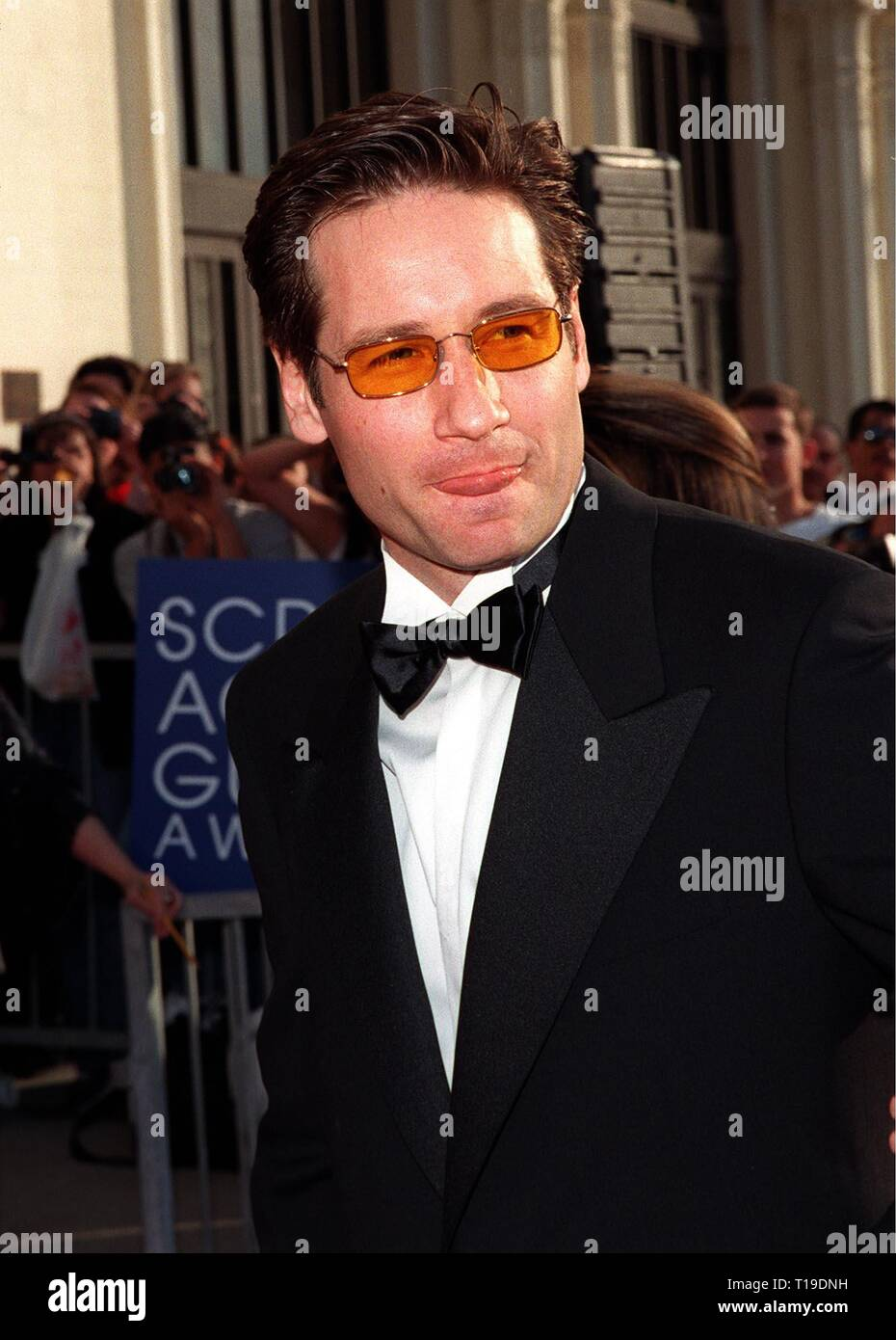 LOS ANGELES, CA - March 8, 1998: 'X-Files' star DAVID DUCHOVNY at the Screen Actors Guild  Awards in Los Angeles. - Stock Image