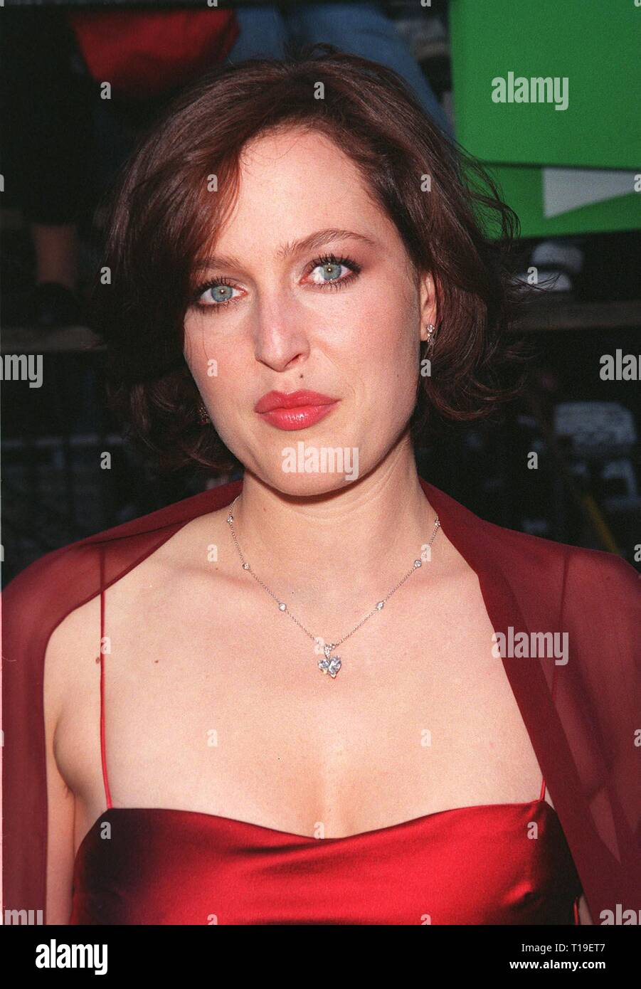 LOS ANGELES, CA - September 8, 2011:  Actress GILLIAN ANDERSON at the world premiere, in Los Angeles, of her new movie 'The X-Files.' - Stock Image