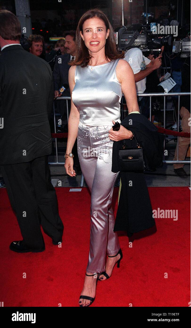 LOS ANGELES, CA - September 8, 2011:  Actress MIMI ROGERS at the world premiere, in Los Angeles, of 'The X-Files.' - Stock Image