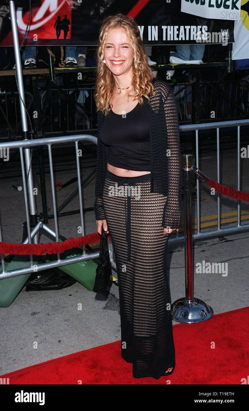 LOS ANGELES, CA - September 8, 2011:  Actress KELLY PRESTON (wife of John Travolta) at the world premiere, in Los Angeles, of 'The X-Files.' - Stock Image