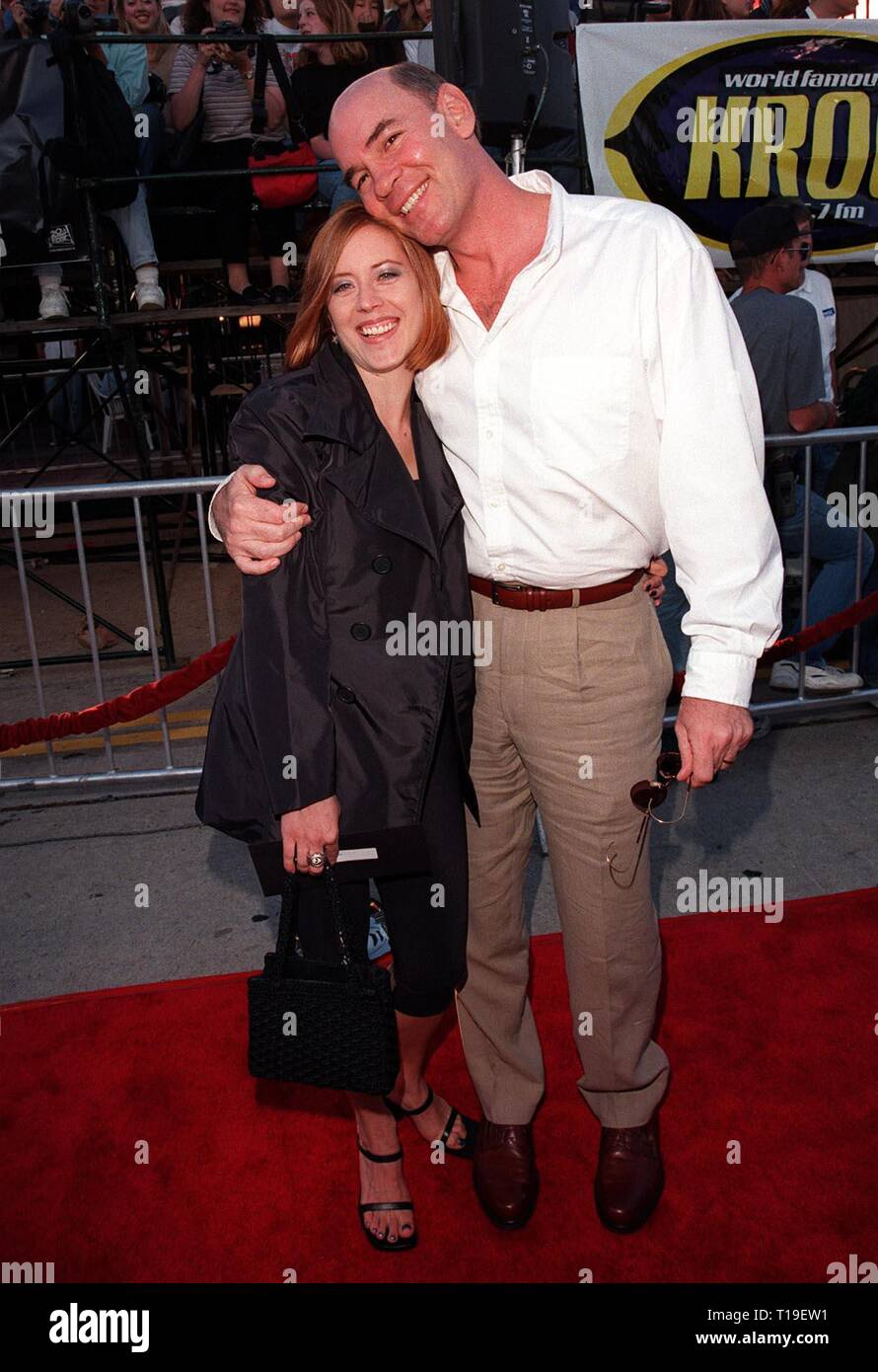 LOS ANGELES, CA - September 8, 2011:  Actor MITCH PILEGGI & wife at the world premiere, in Los Angeles, of his new movie 'The X-Files.' - Stock Image