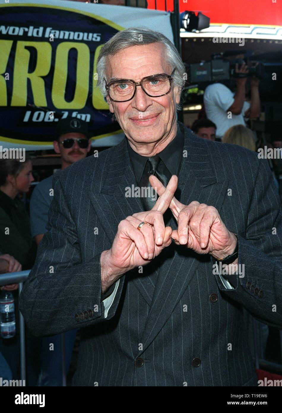 LOS ANGELES, CA - September 8, 2011:  Actor MARTIN LANDAU at the world premiere, in Los Angeles,  of his new movie 'The X-Files.' - Stock Image