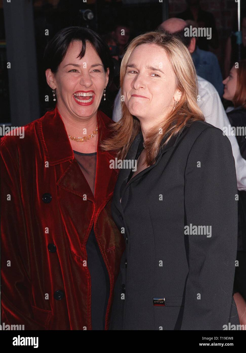 LOS ANGELES, CA - September 8, 2011:  Singer MELISSA ETHERIDGE (right) & girlfriend JULIE CYPHER at the world premiere, in Los Angeles, of 'The X-Files.' - Stock Image