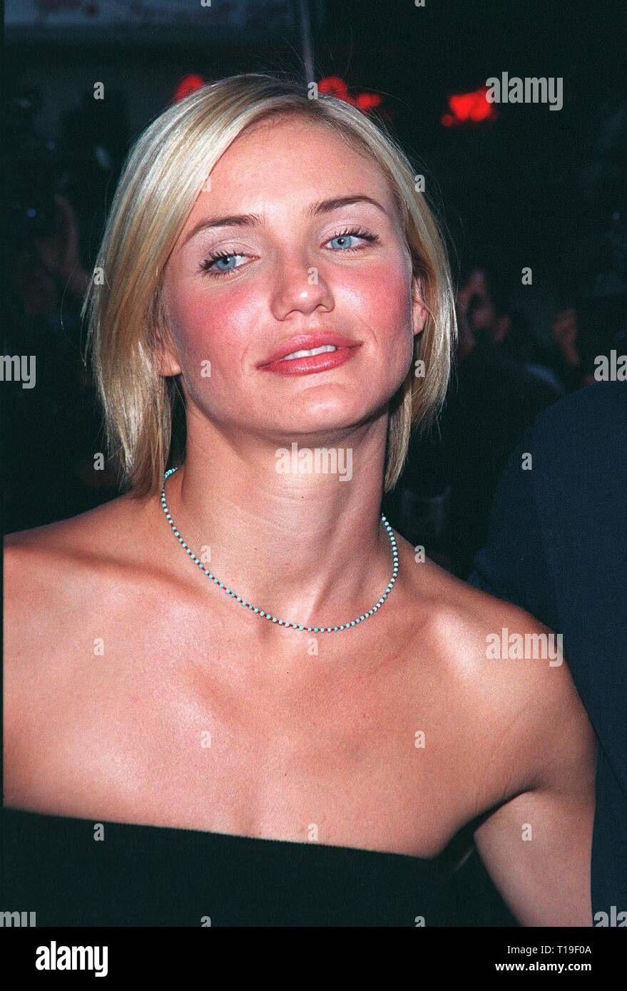 LOS ANGELES, CA - July 9, 1998: Actress CAMERON DIAZ at the world premiere, in Los Angeles, of her new movie 'There's Something About Mary.' - Stock Image