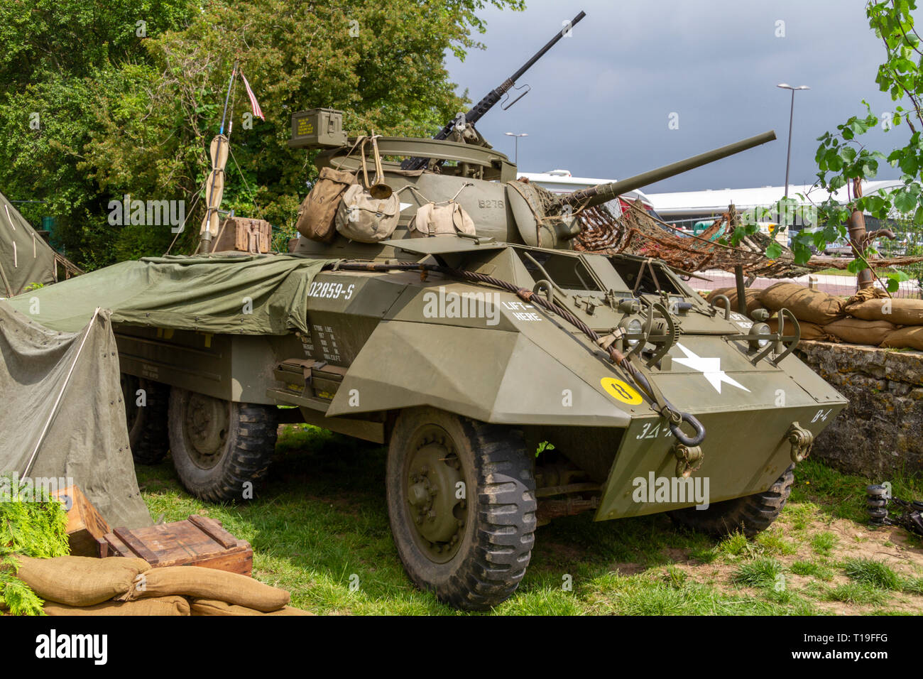 A M8 Light Armored Car, Part of the D-Day 70th Anniversary