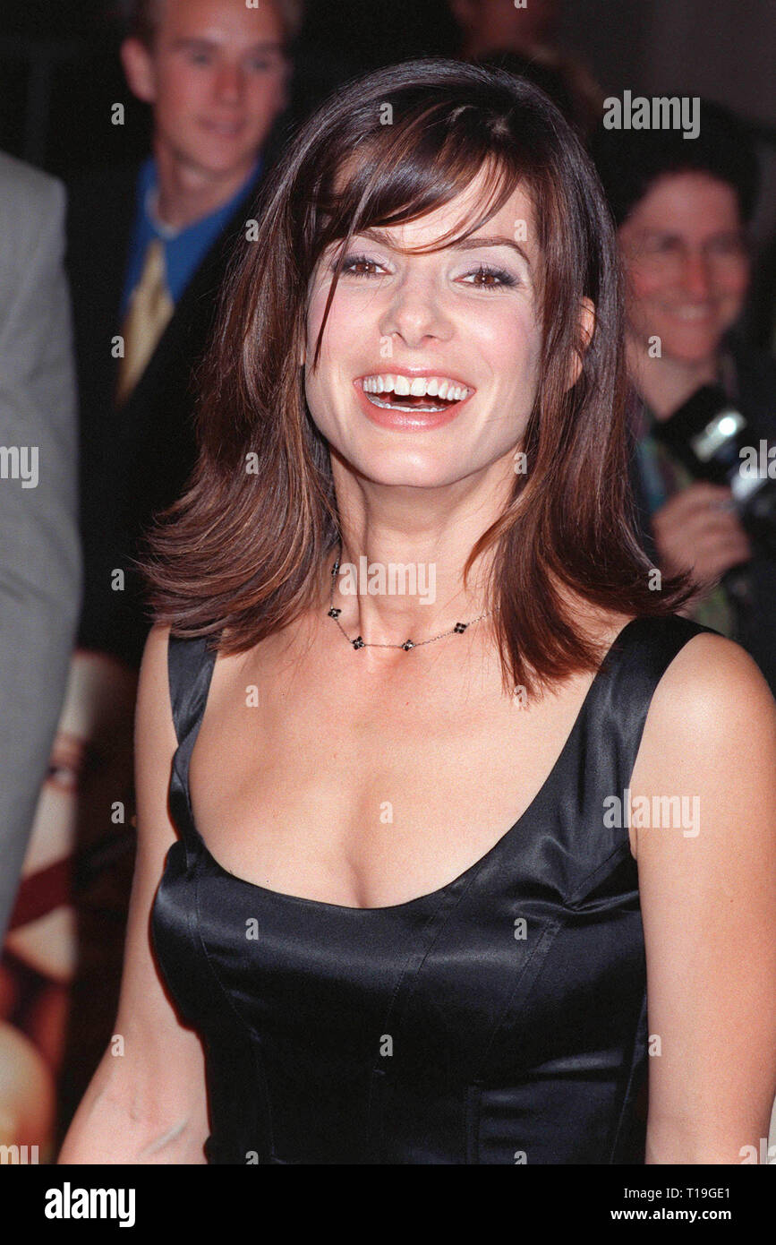 LOS ANGELES, CA - October 13, 1998:  Actress SANDRA BULLOCK at the Los Angeles premiere of her new movie 'Practical Magic' in which she stars with Nicole Kidman, Aidan Quinn & Stockard Channing. - Stock Image