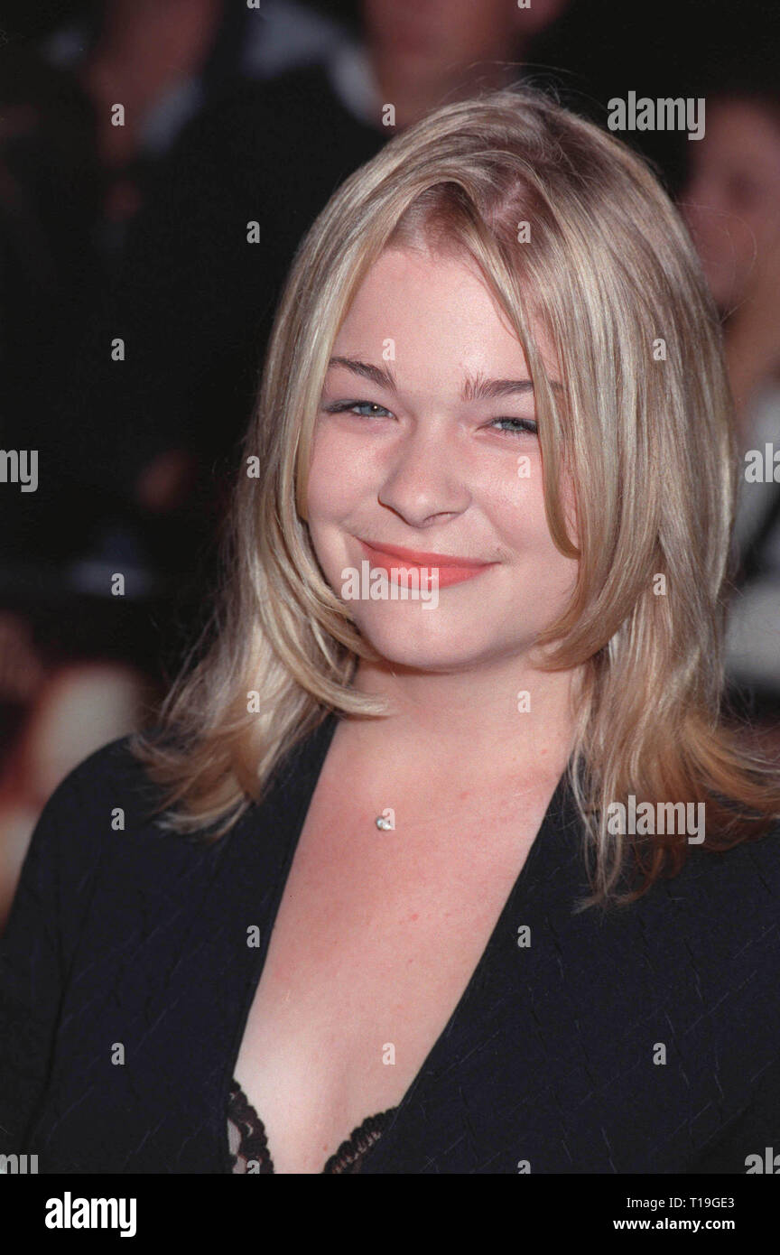 LOS ANGELES, CA - October 13, 1998:  Singer LEANN RIMES at the Los Angeles premiere of 'Practical Magic' which stars Sandra Bullock, Nicole Kidman, Aidan Quinn & Stockard Channing. - Stock Image