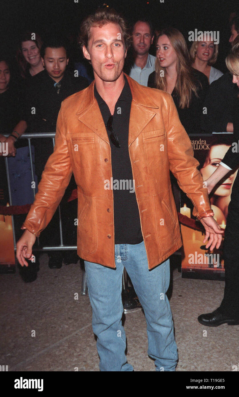 LOS ANGELES, CA - October 13, 1998:  Actor MATTHEW McCONAUGHEY at the Los Angeles premiere of 'Practical Magic' which stars Sandra Bullock, Nicole Kidman, Aidan Quinn & Stockard Channing. - Stock Image