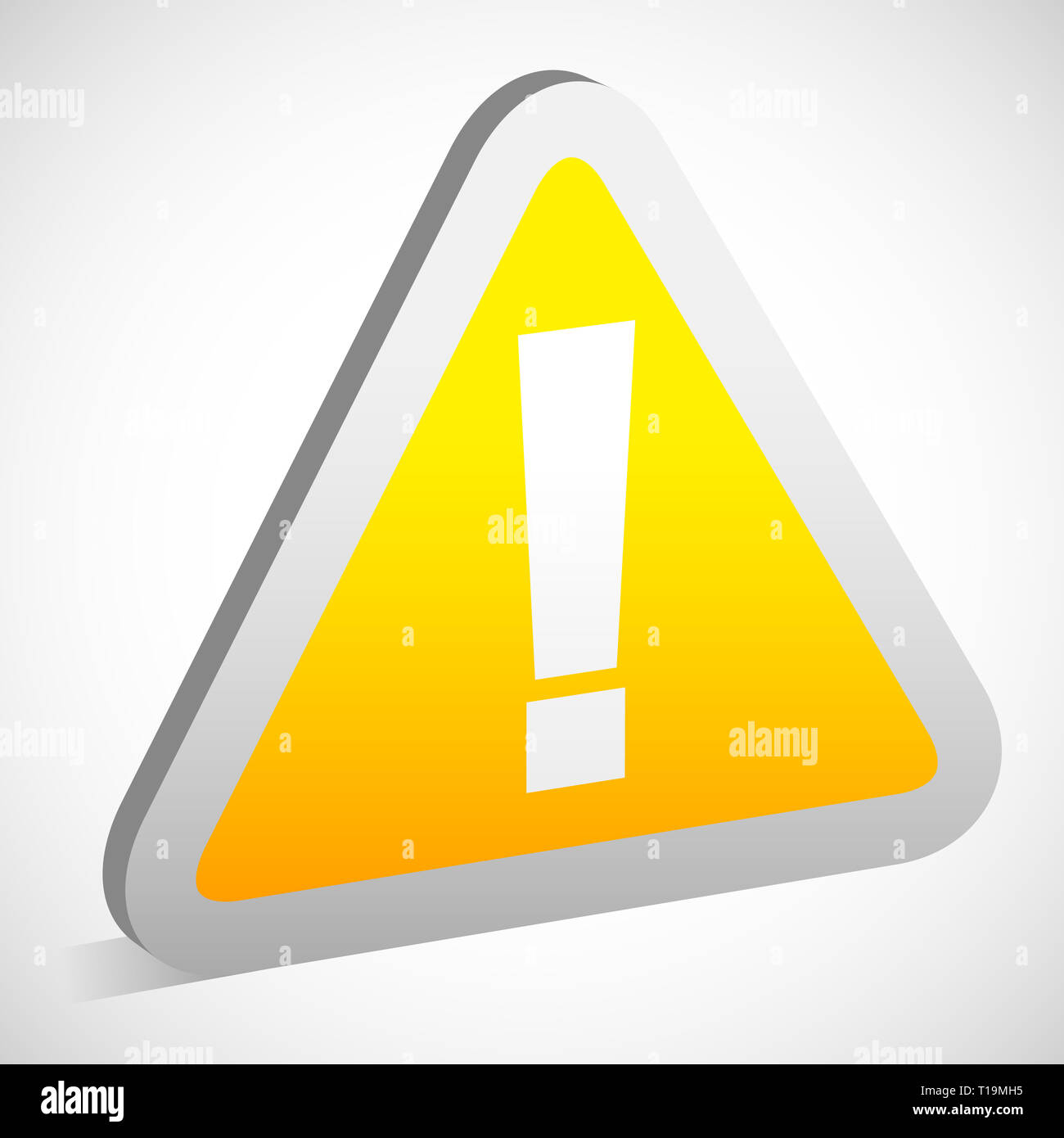 Eps 10 Vector Illustration of Triangular Sign / Road Sign with Exclamation Point - Caution, Attention Warning Concepts - Stock Image