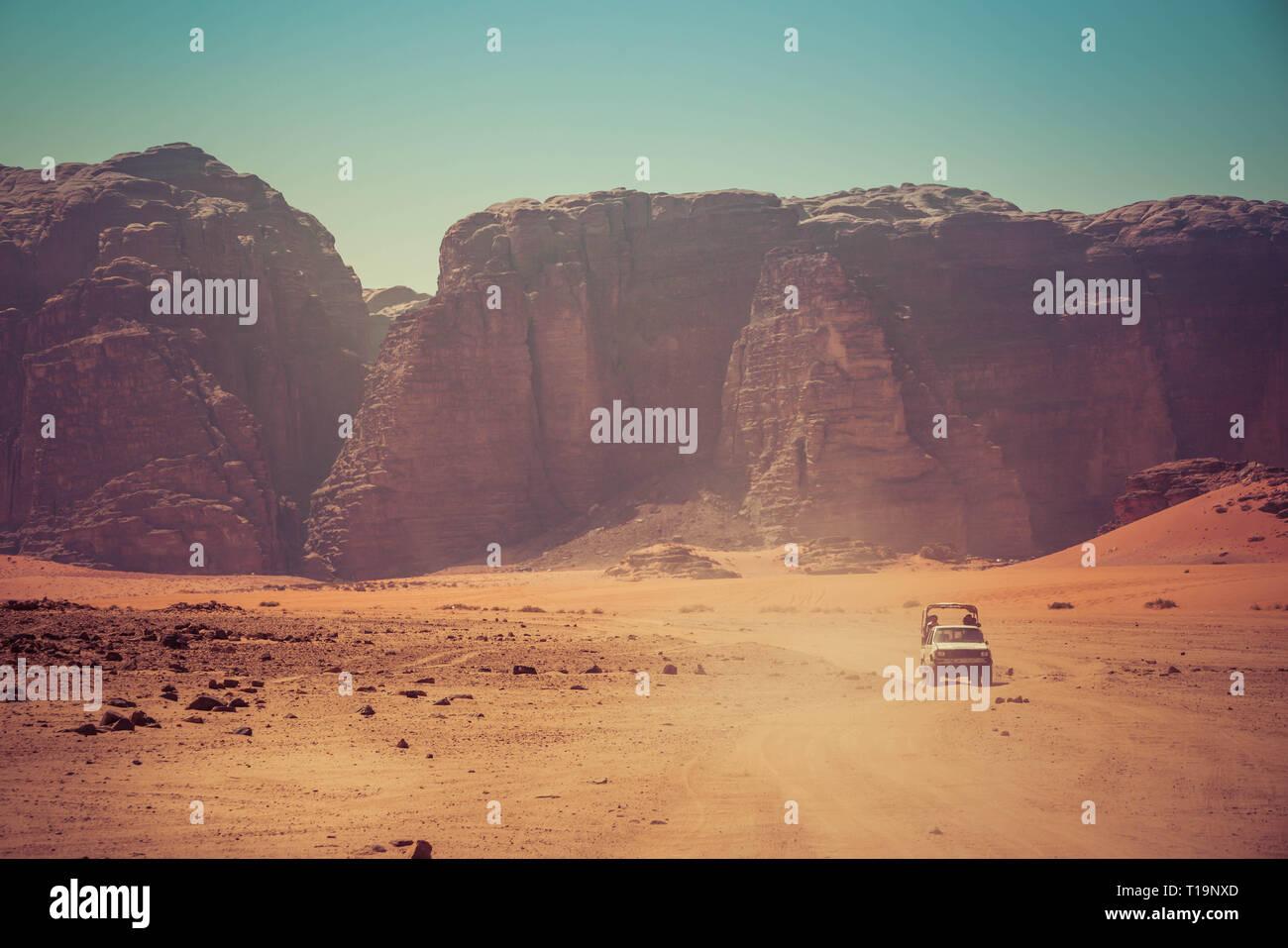 Wadi Rum desert, Kingdom of Jordan Stock Photo