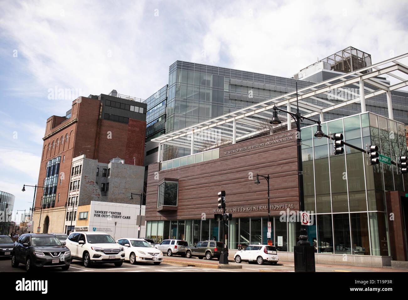 Massachusetts General Hospital building on Cambridge Street