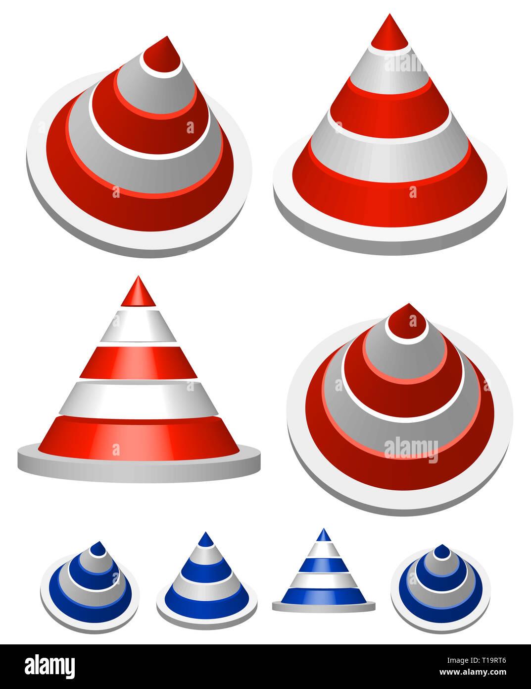 Illustration of traffic cones - Stock Image