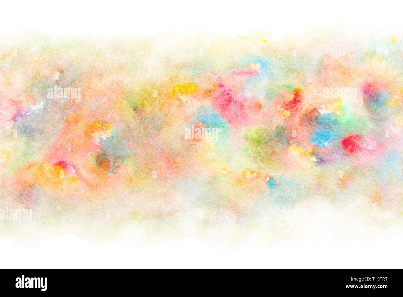 Spring Colorful Watercolor Abstract Or Vintage Paint