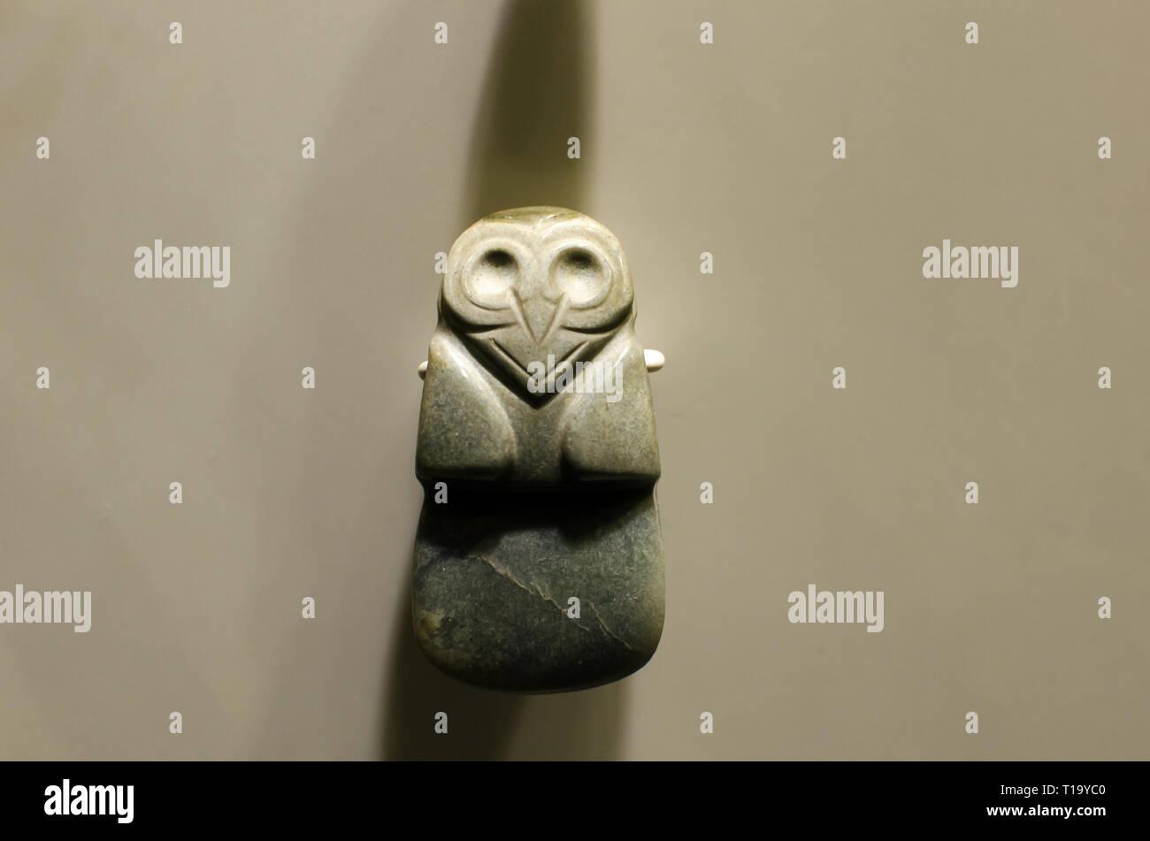 Objects at Museo del Jade y la Cultura Precolombina in Costa Rica - Stock Image