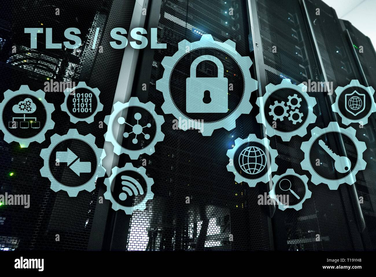 Transport Layer Security. Secure Socket Layer. TLS SSL. ryptographic protocols provide secured communications. - Stock Image