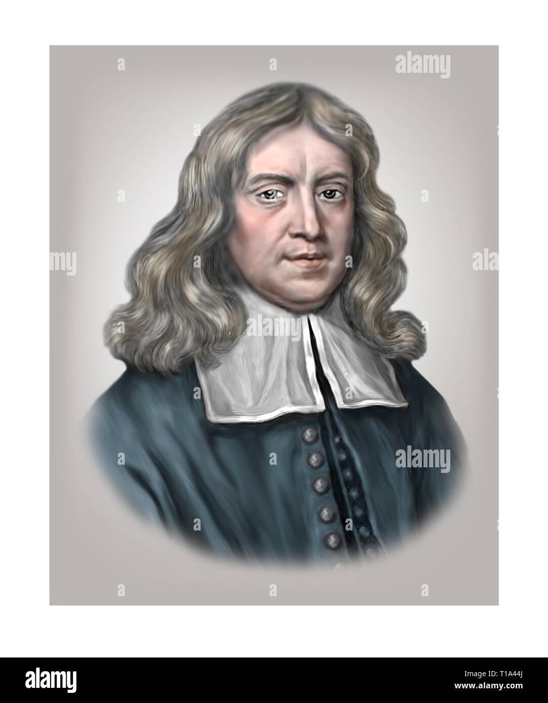 Thomas Sydenham 1624-1689 English Physician - Stock Image