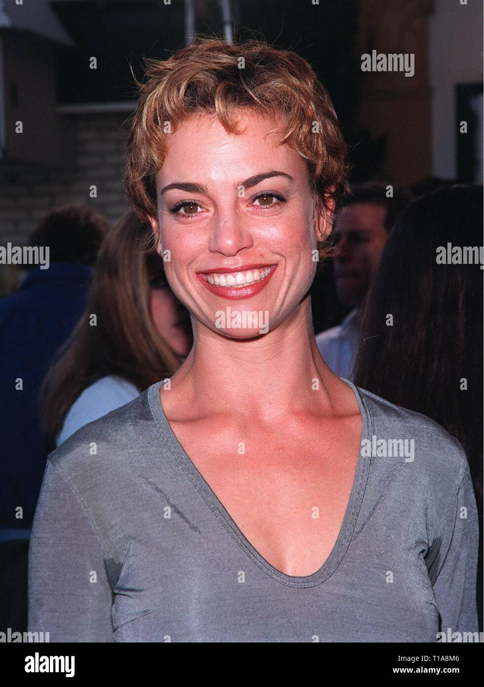 LOS ANGELES, CA - July 9, 1998: JENNIFER GRANT, daughter of the late Cary Grant, at the world premiere, in Los Angeles, of 'There's Something About Mary.' - Stock Image