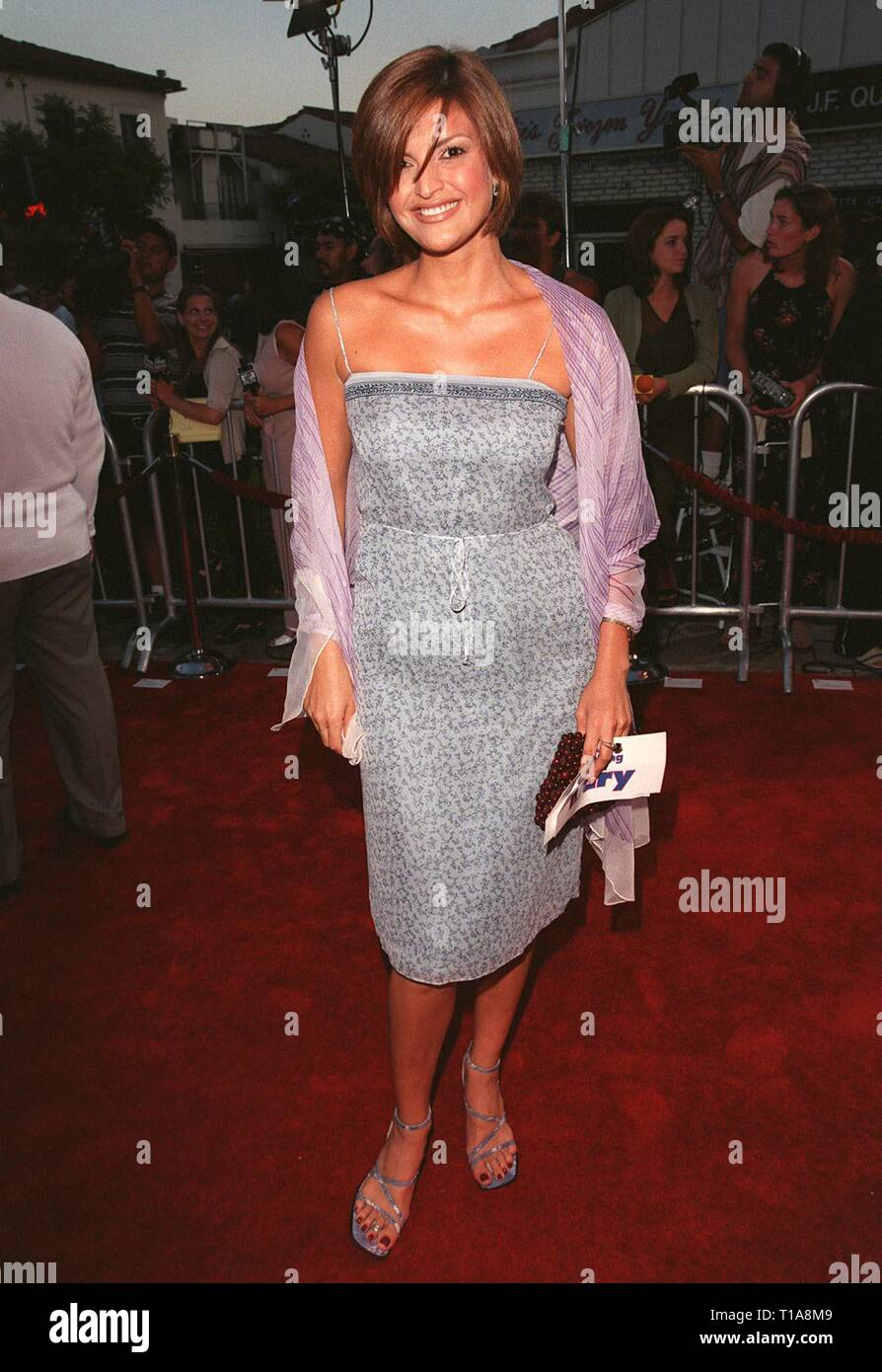 LOS ANGELES, CA - July 9, 1998: Model JENNIFER GIMENEZ at the world premiere, in Los Angeles, of 'There's Something About Mary.' - Stock Image