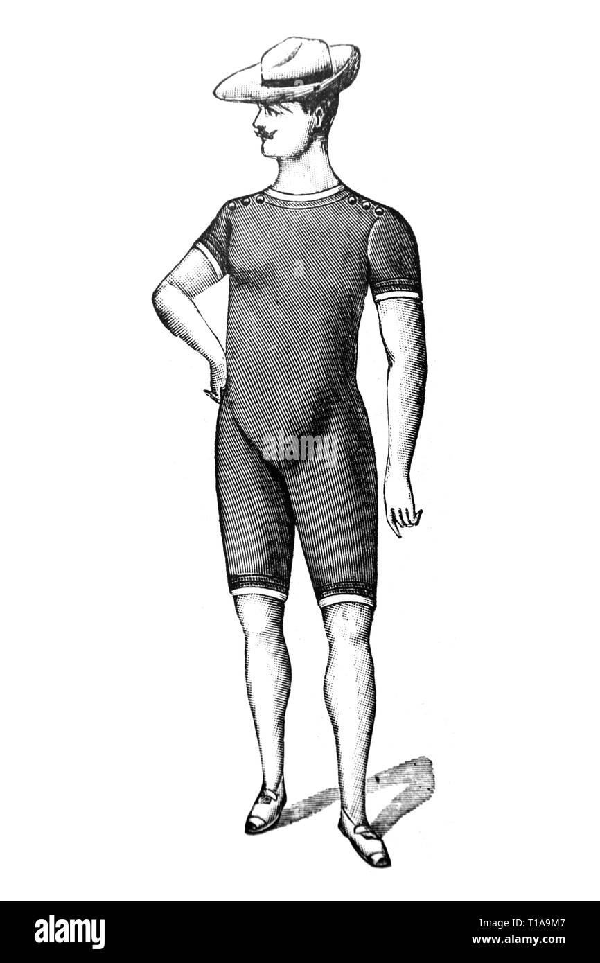 Swimwear - Vintage Illustration 1905 - Stock Image