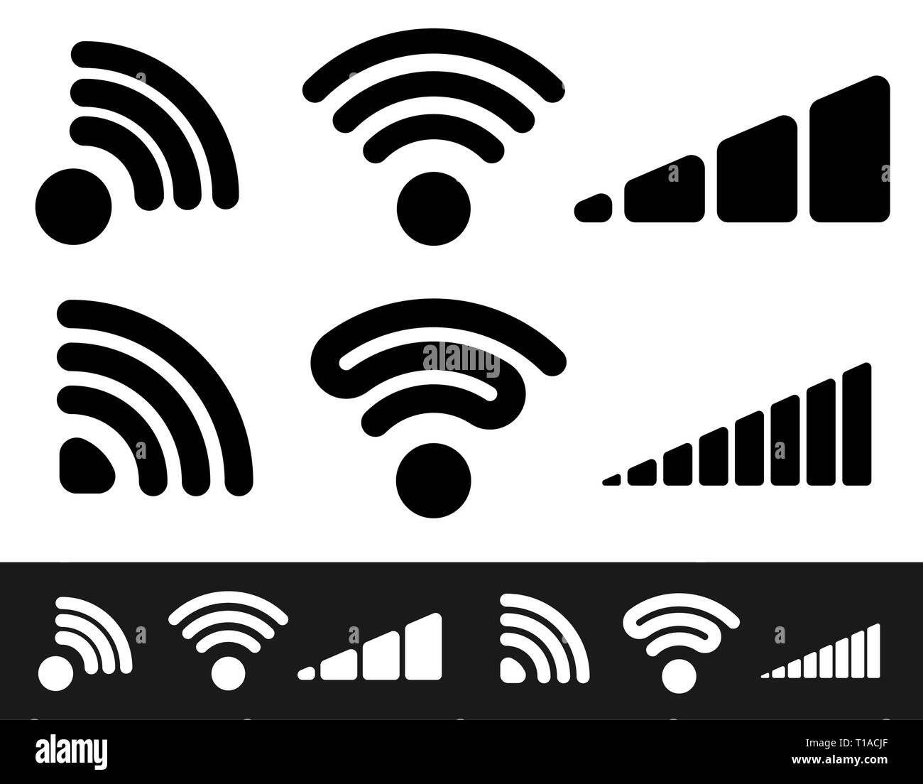 Signal shape templates. editable vector graphics. eps10 - Stock Image