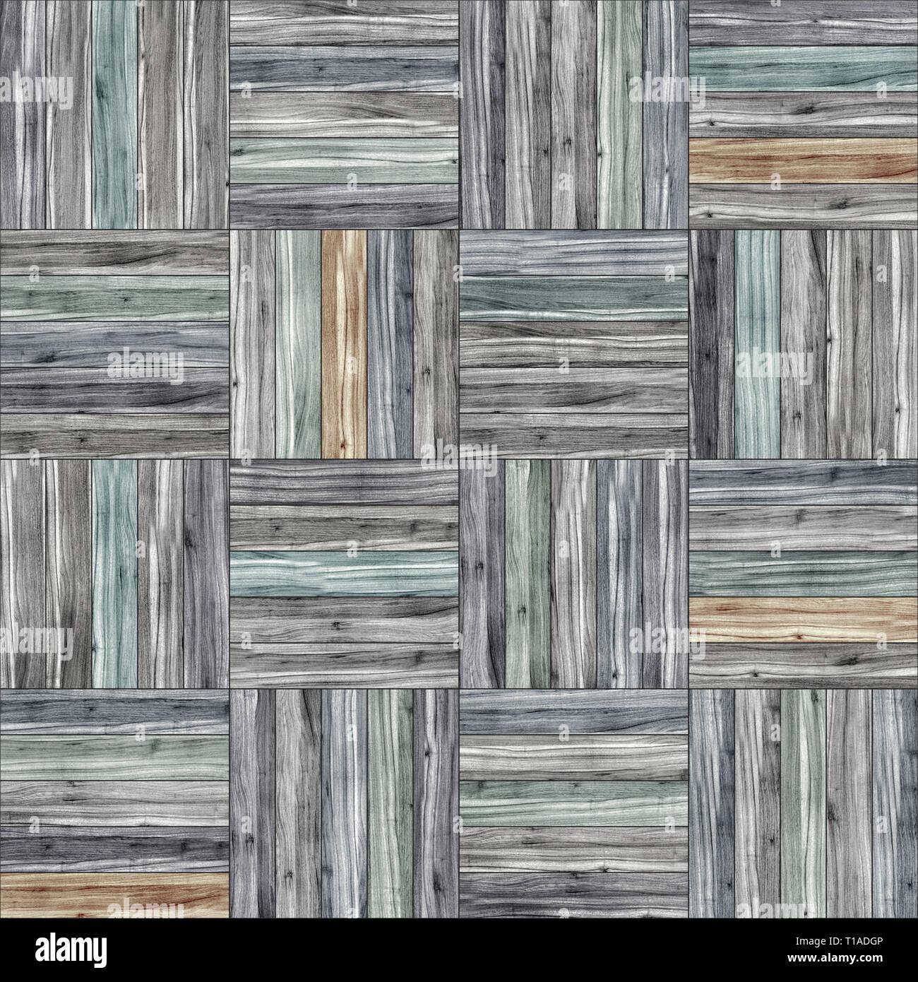 Seamless wood parquet texture (basket clip-art) - Stock Image