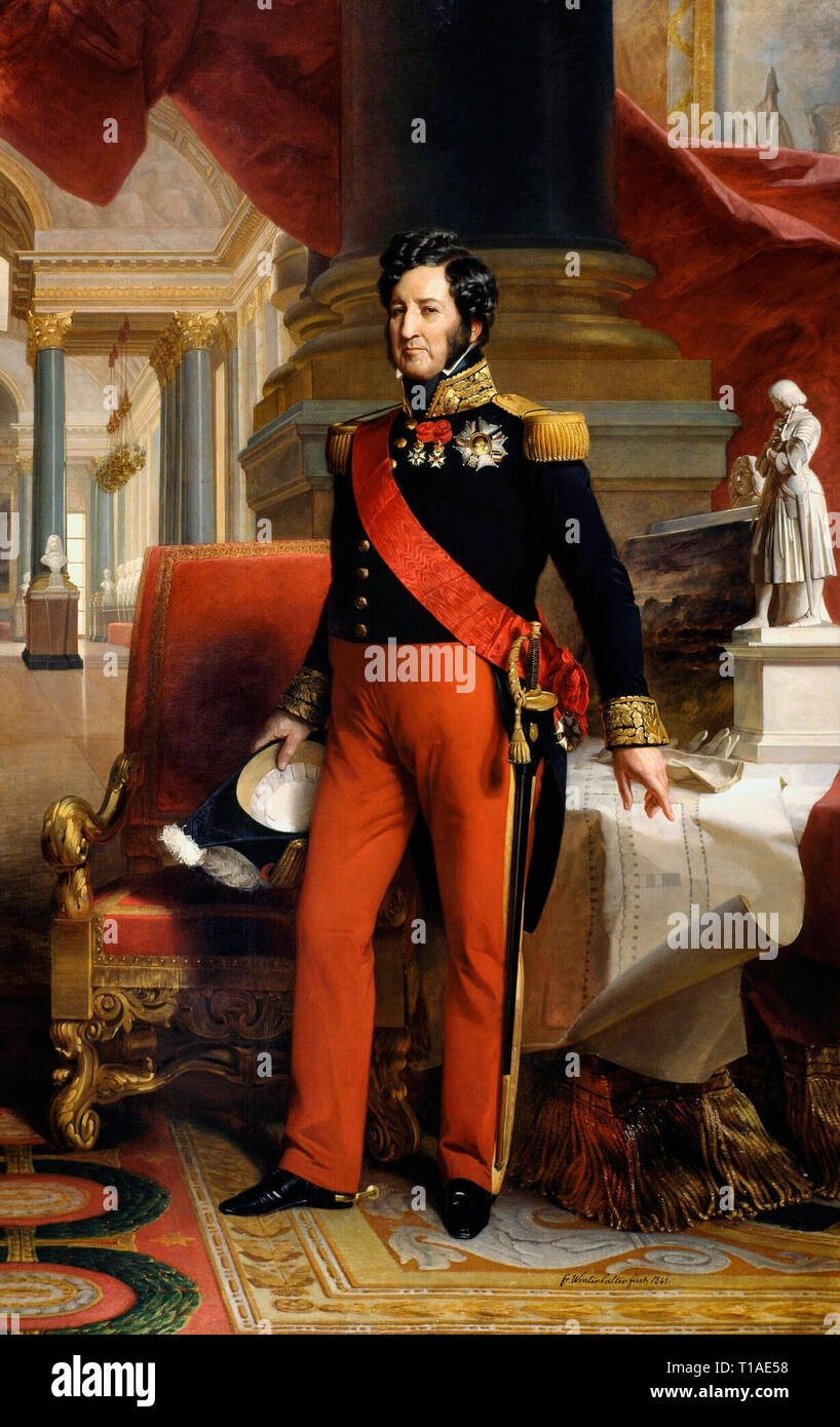 Louis-Philippe, King of France from 1830 to 1848 (July Monarchy) - Franz Xaver Winterhalter, 1841 - Stock Image