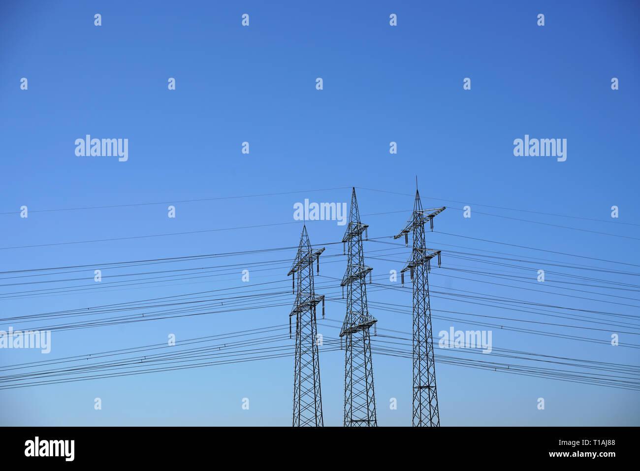 Power pole Power line Stock Photo