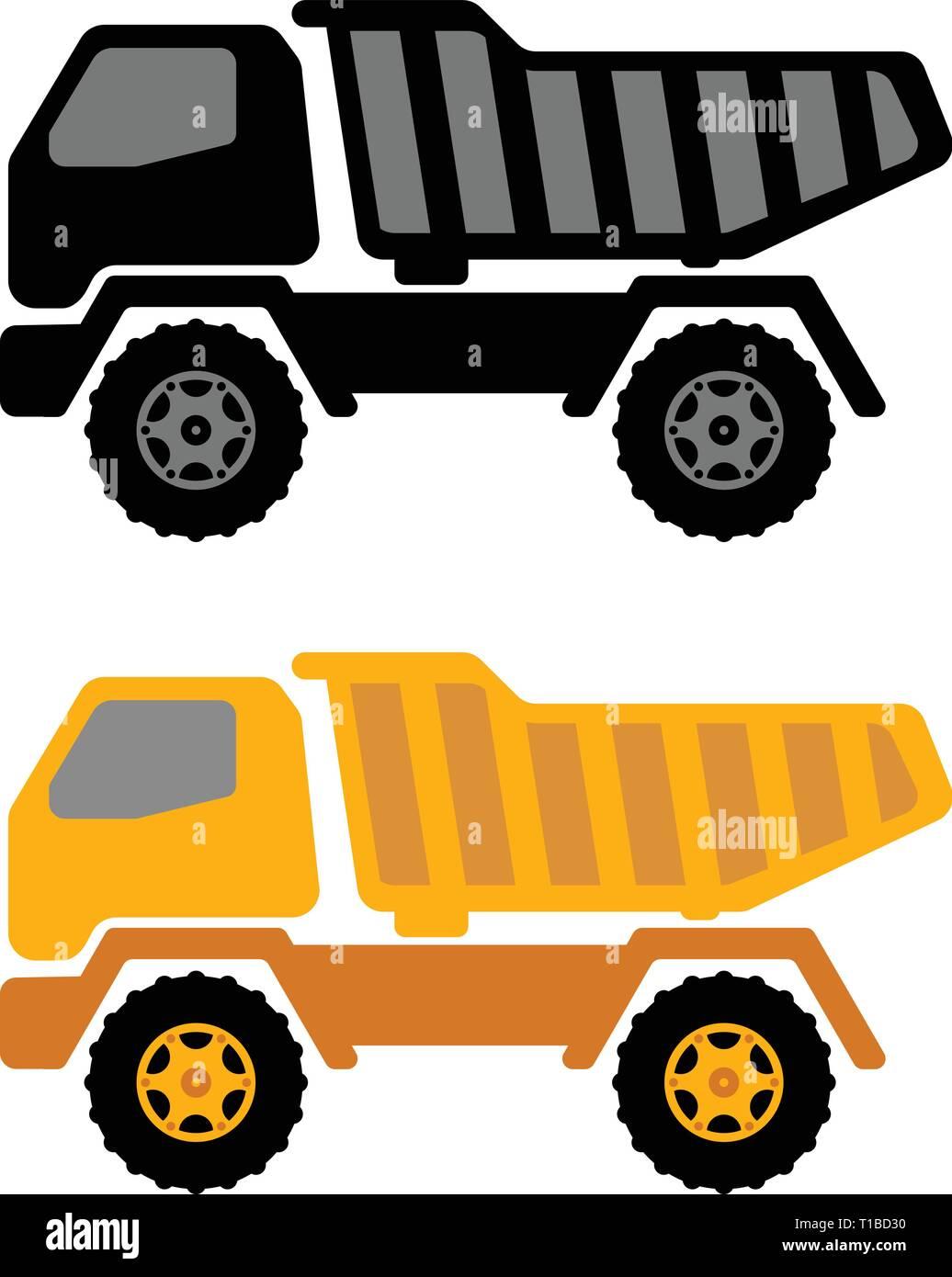 dumper truck illustration - vector Stock Vector