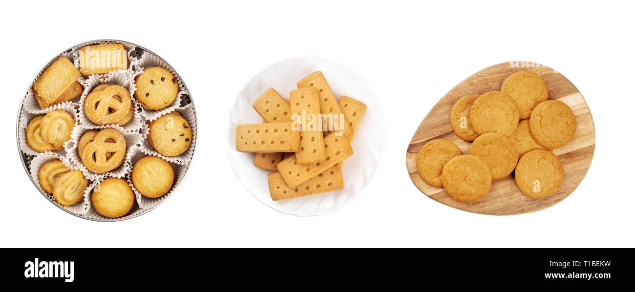 A Set Of Isolated Christmas Biscuits Danish Butter Cookies British