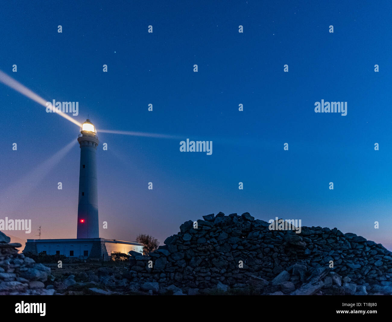 SAN VITO LIGHTHOUSE - Stock Image