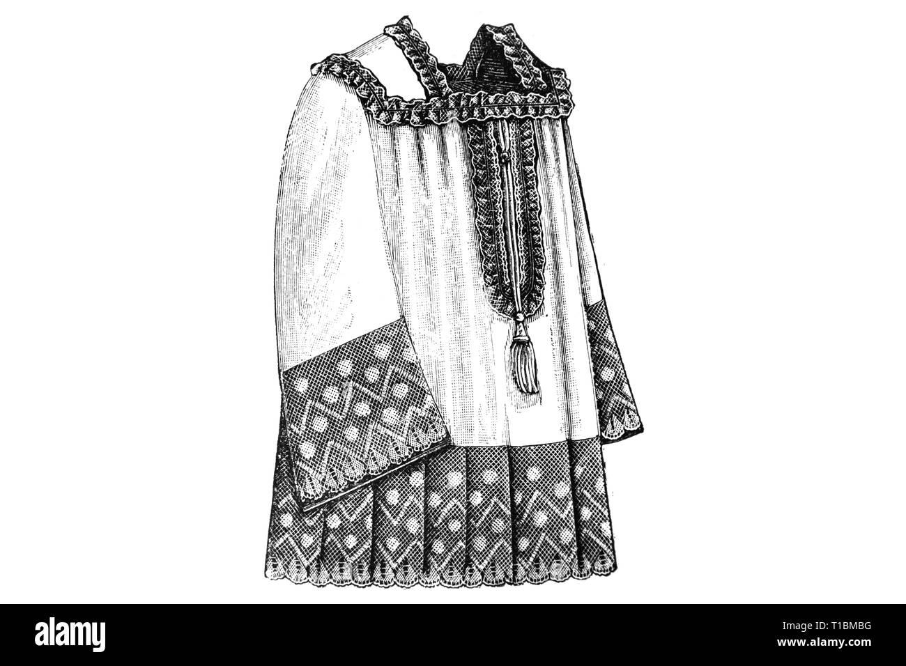 Gowns for Priests - Vintage Illustration 1905 - Stock Image