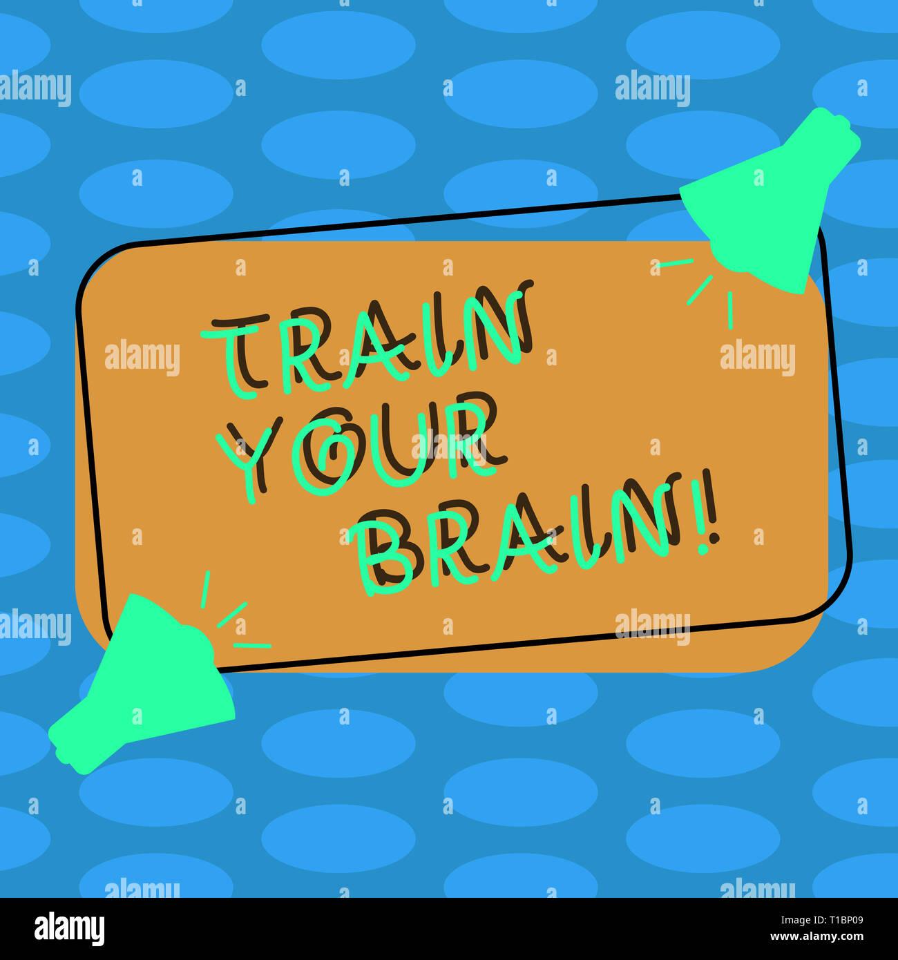 Word writing text Train Your Brain  Business photo showcasing