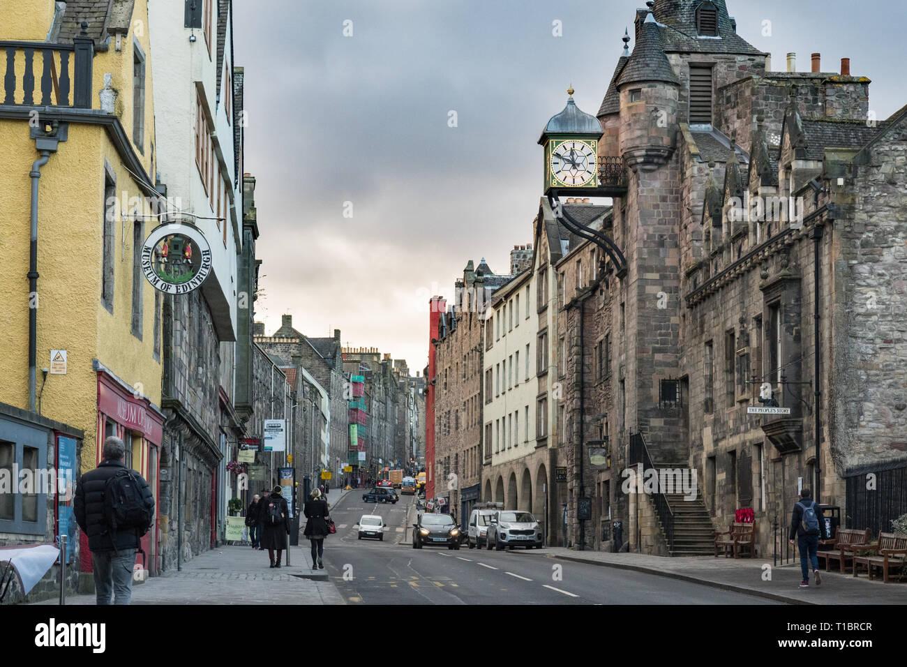 Edinburgh Royal Mile Canongate area, Scotland, UK Stock Photo
