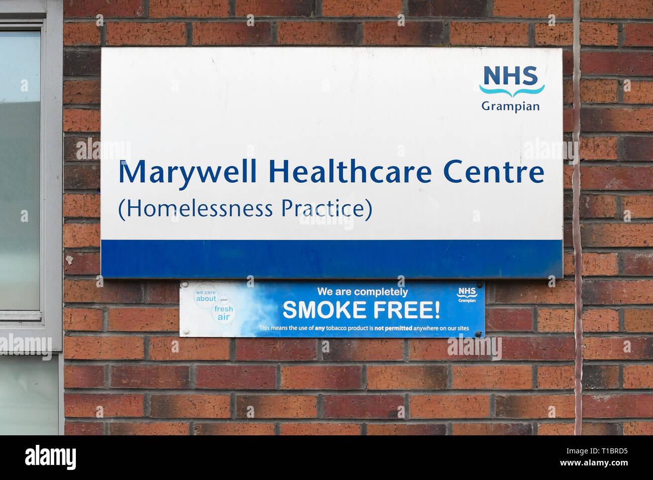 Marywell Heathcare Centre Homelessness Practice, Aberdeen, Scotland, UK - Stock Image