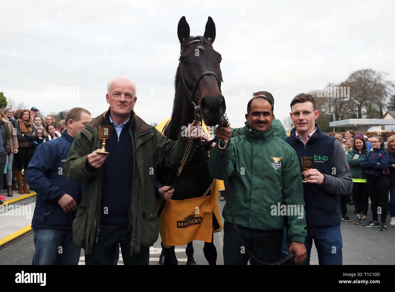 26006ce6ff98 2019 Cheltenham Gold Cup winner Al Boum Photo with jockey Paul Townend (far  right)