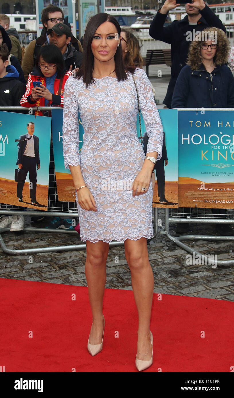 Apr 25, 2016 - London, England, UK - A Hologram For The King UK Premiere, BFI Southbank - Red Carpet Arrivals Photo Shows: Linzi Stoppard - Stock Image