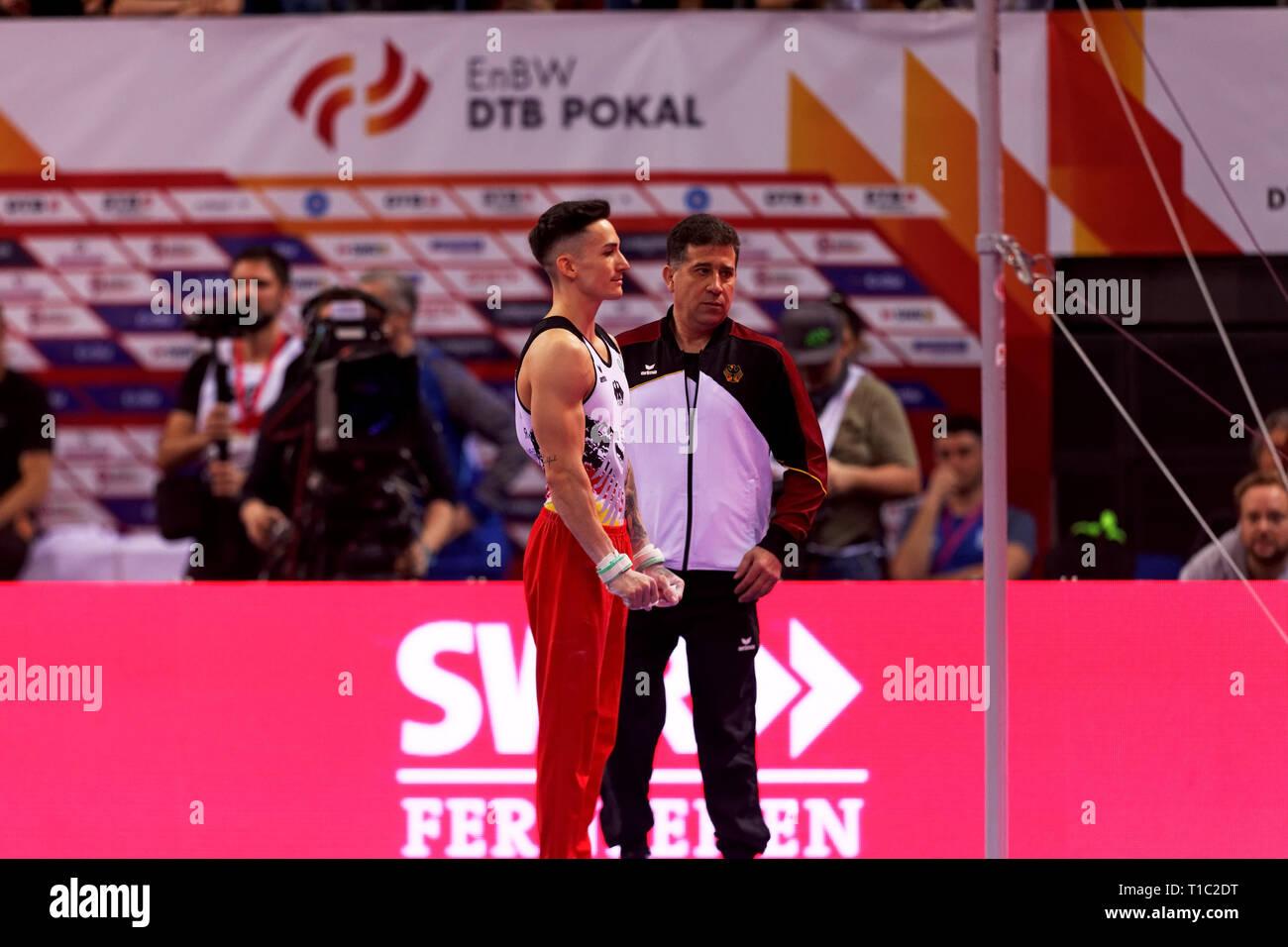 Marcel Nguyen, GER, EnBW DTB Pokal, Stuttgart 2019 - Stock Image
