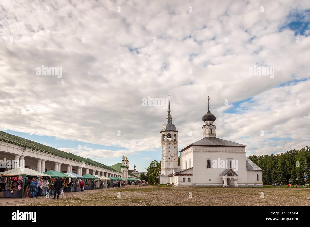 Panorama of Church of the Resurrection in Suzdal - Stock Image