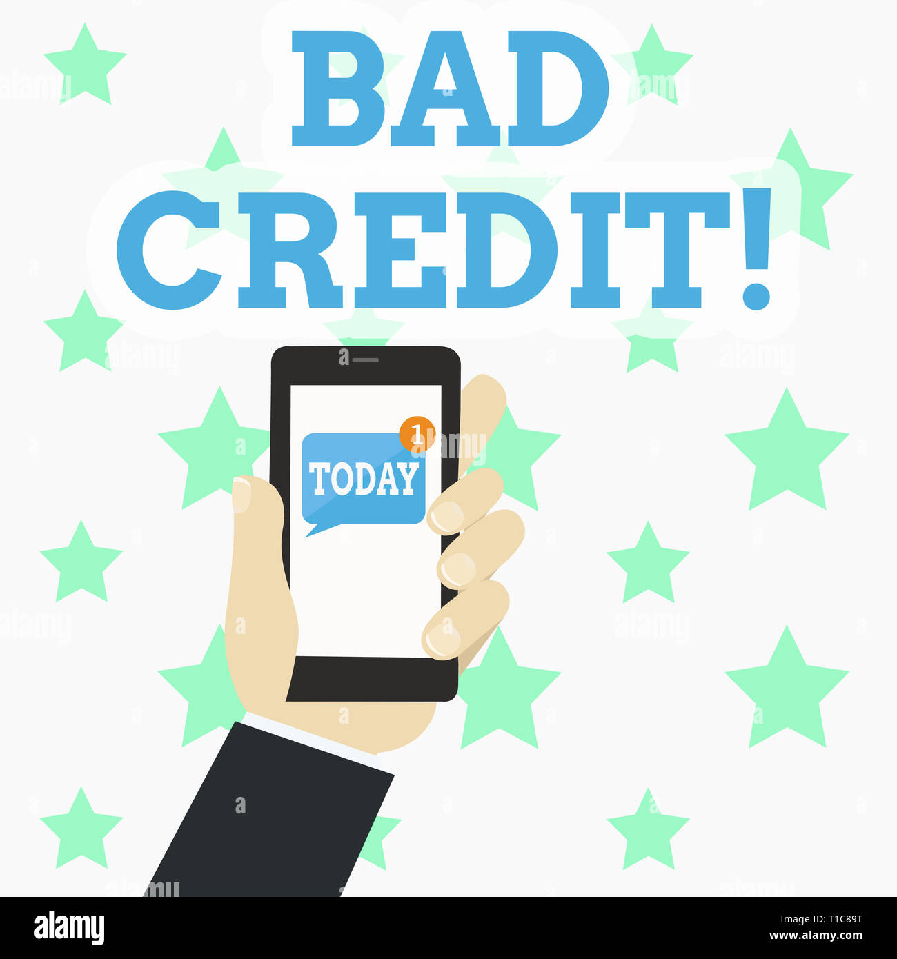 Loan With Bad Credit >> Writing Note Showing Bad Credit Business Concept For