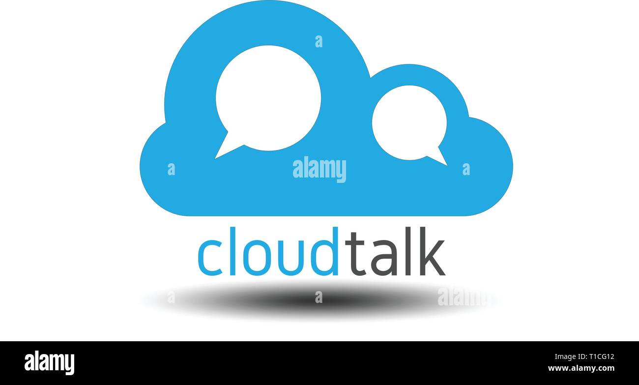 chat and talk cloud logo - Stock Image
