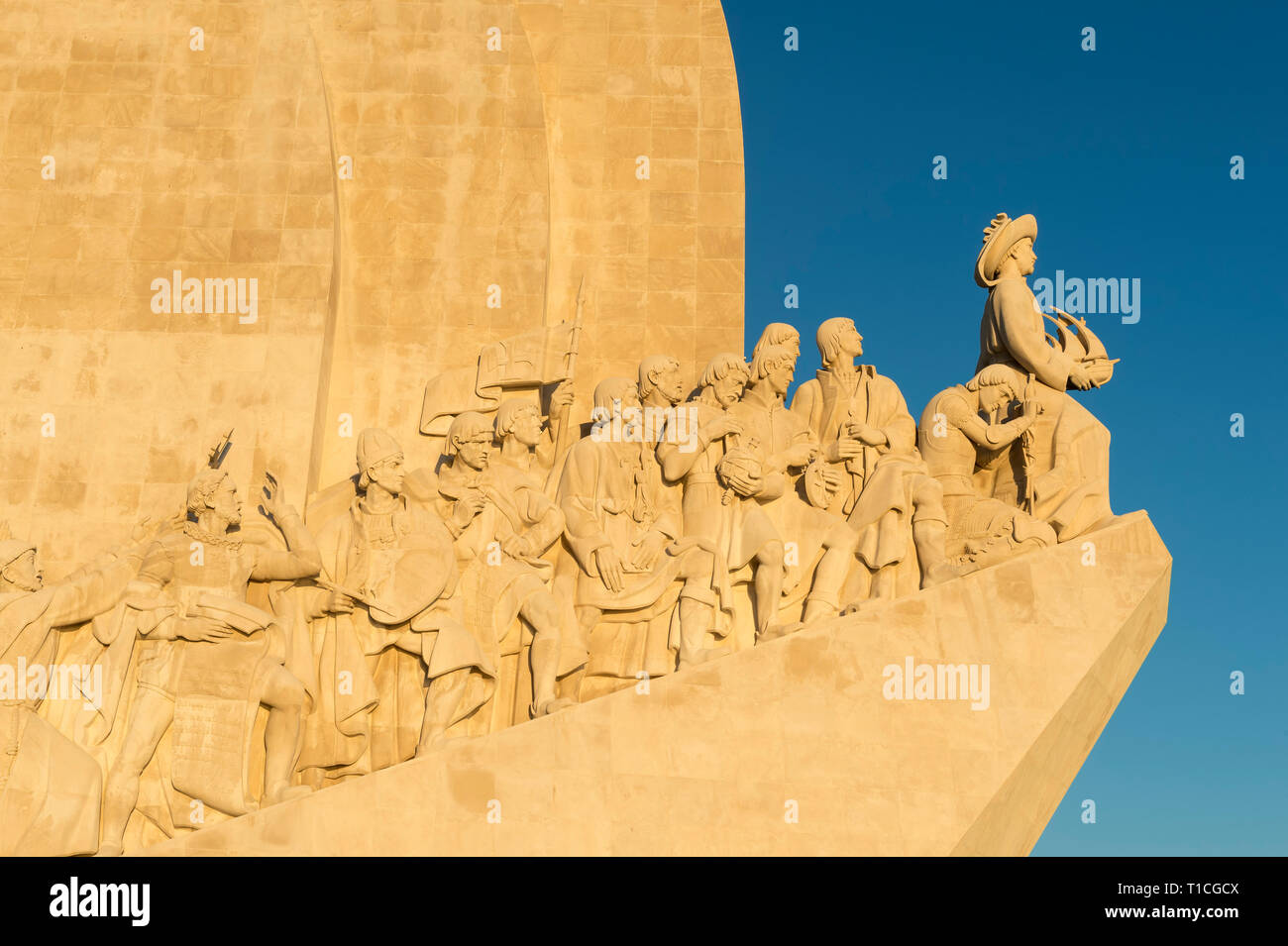 Monument to the Discoveries, Padrão dos Descobrimentos, Belem district, Lisbon, Portugal Stock Photo