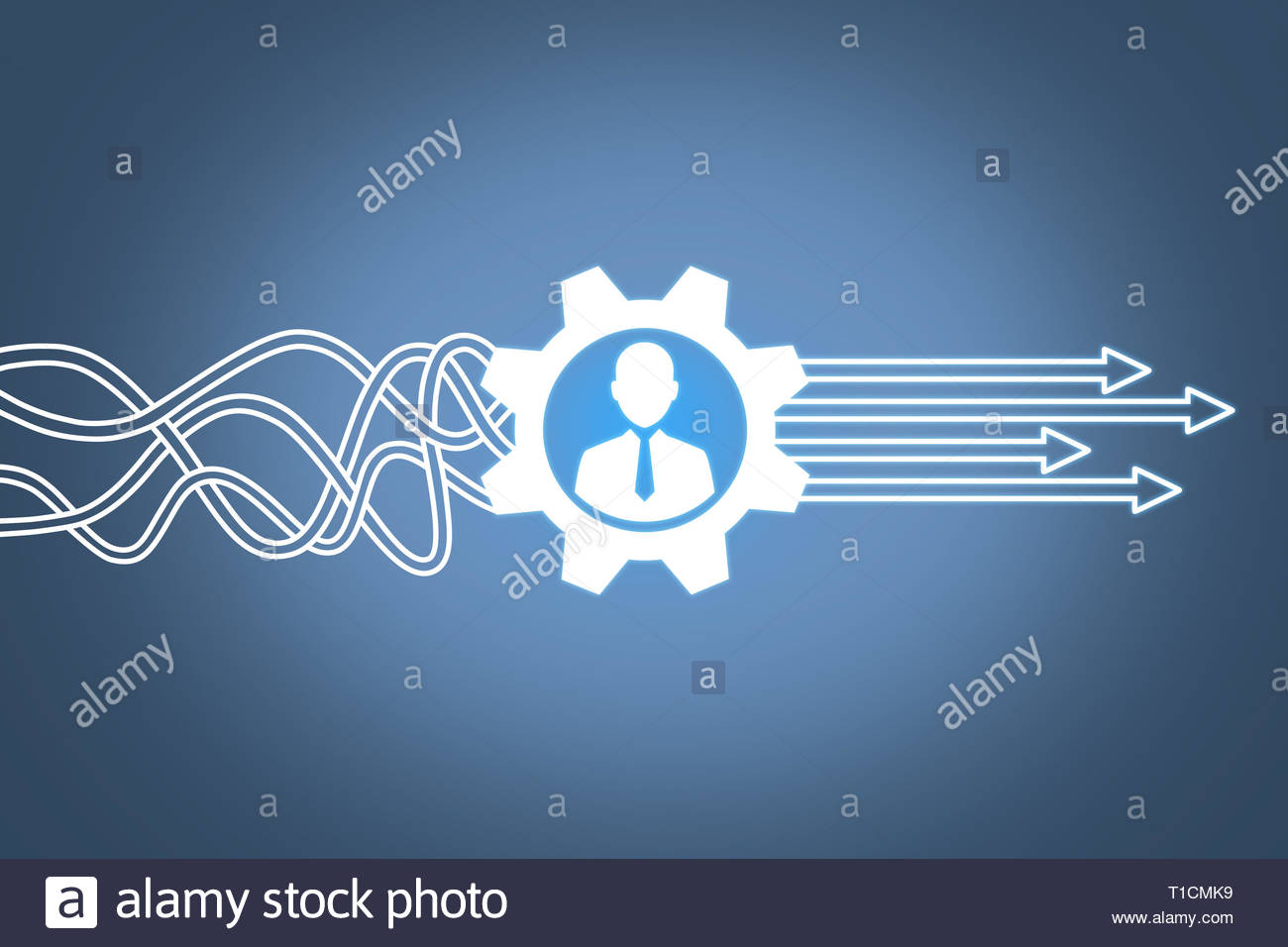 Human Resourses Solution Concepts on Touch Screen Stock Photo