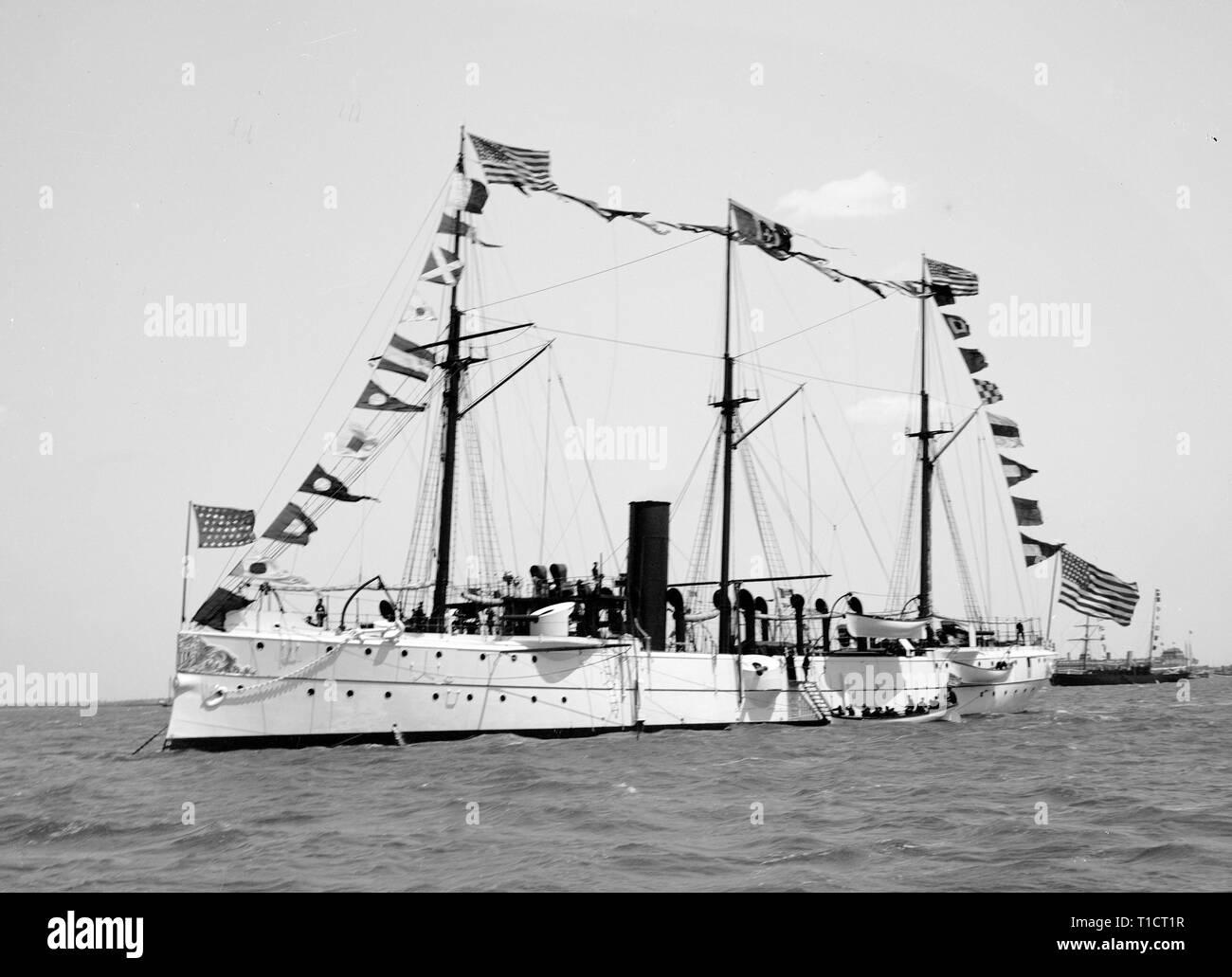 USS Concord, 1893 - Stock Image