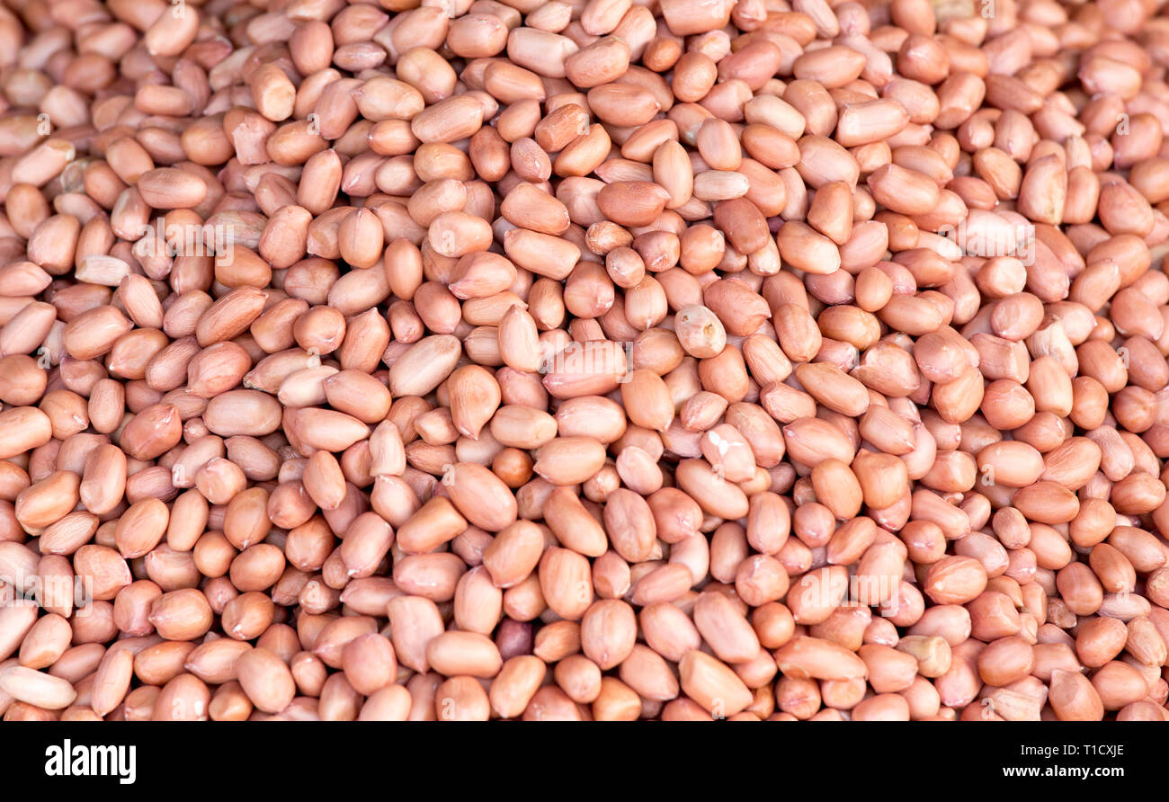 Bacground photo of cashews sold at market in Hanoi, Vietnam - Stock Image