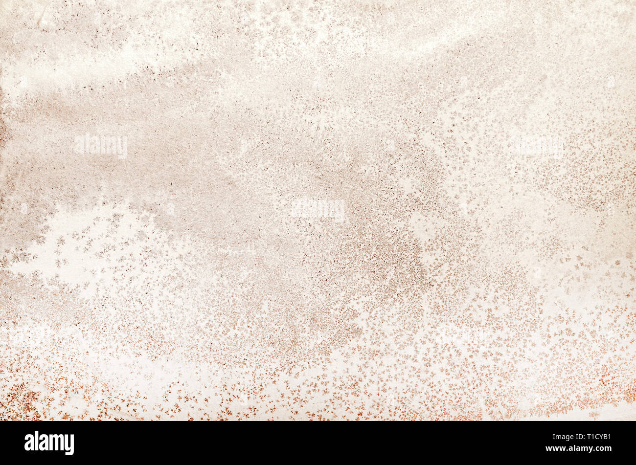 Slate texture on metamorphic rock surface, brown grunge stained pattern on real stone as background, grunge texture overlay template for art work, gru - Stock Image
