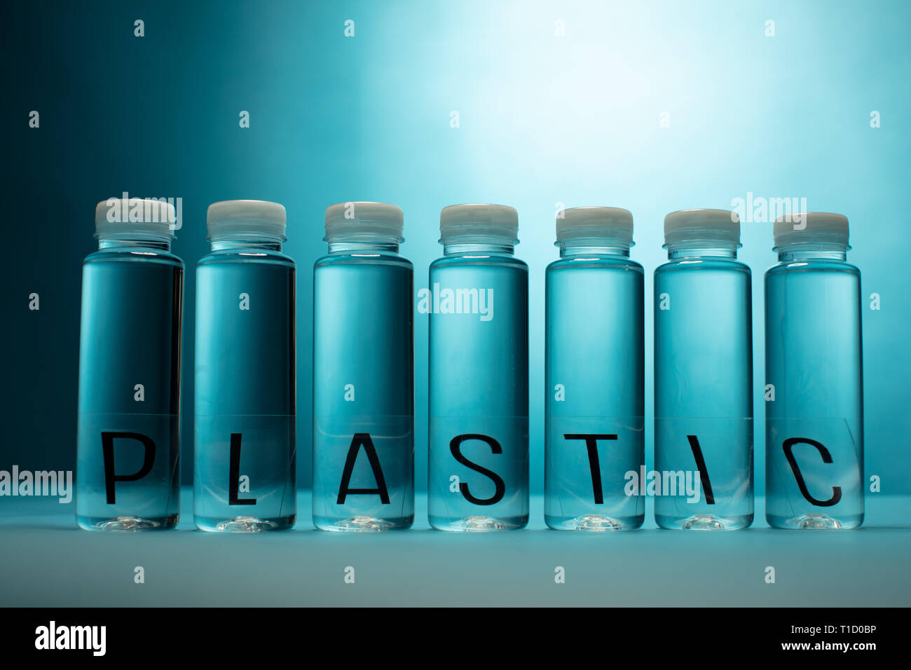 plastic bottles as a symbol for waste - Stock Image