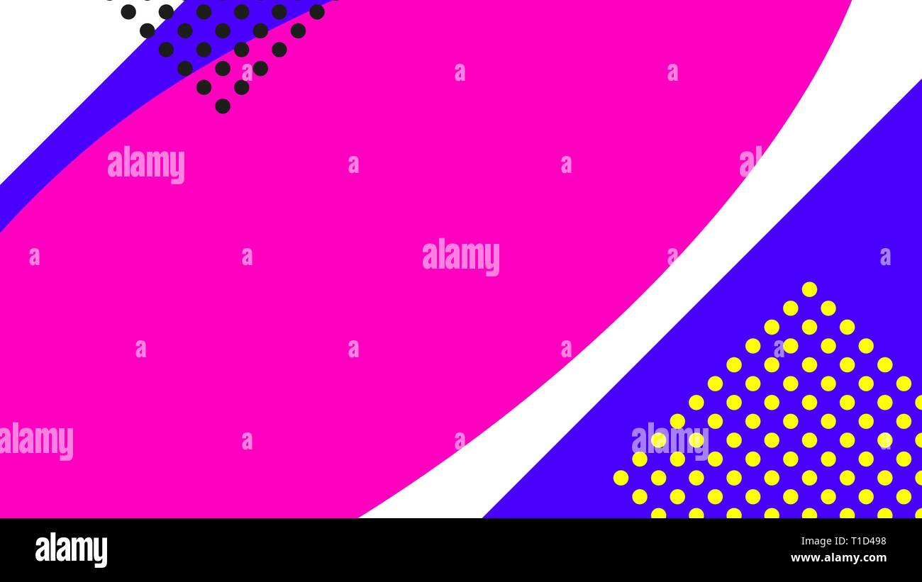 Vaporwave Or Retrowave Abstract Background With Gradient Colorful Shapes With Memphis Geometric Elements Stock Vector Image Art Alamy
