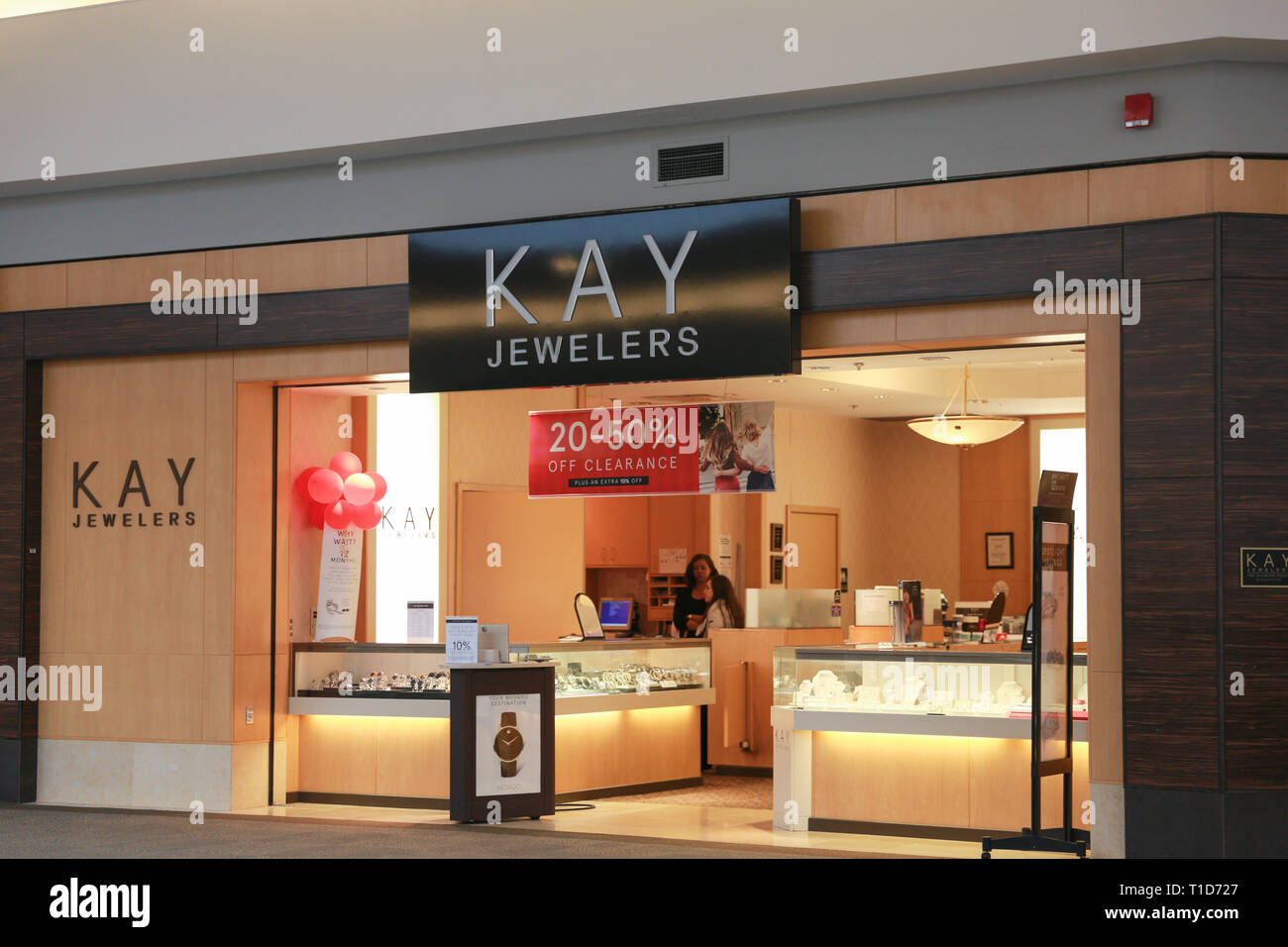 2fada690f Lawrence Township New Jersey, February 24, 2019:Kay Jewelers Retail at  Quaker Bridge