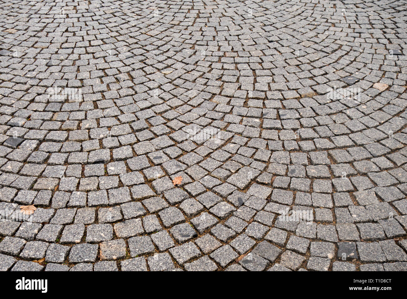 road paved with setts - Stock Image