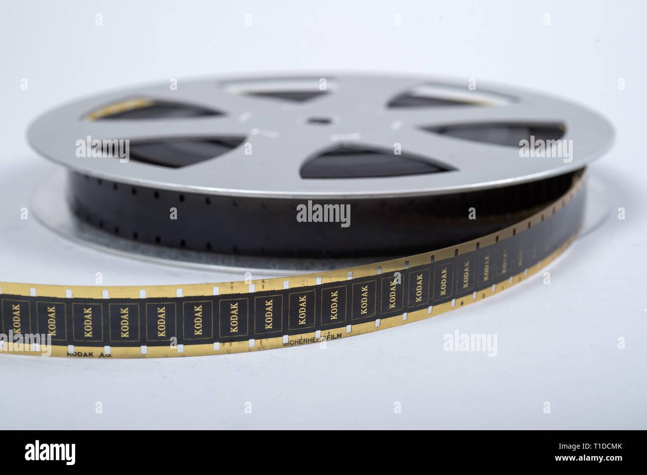 24 11 2015, Berlin, Berlin, Germany - Film roll in 16mm film